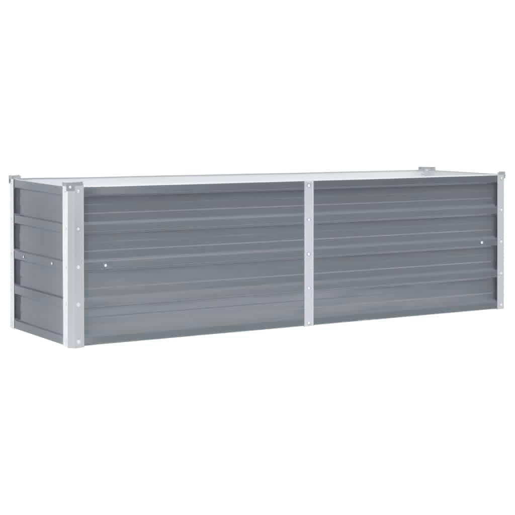 vidaXL Strat înălțat de grădină, gri, 160 x 40 x 45 cm oțel galvanizat imagine vidaxl.ro