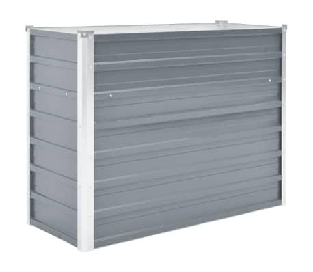 "vidaXL Garden Raised Bed Galvanized Steel 39.4""x15.7""x31.3"" Gray"