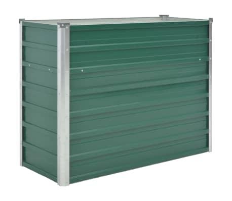 vidaXL dārza puķu kaste, 100x40x77 cm, cinkots tērauds, zaļa[1/7]