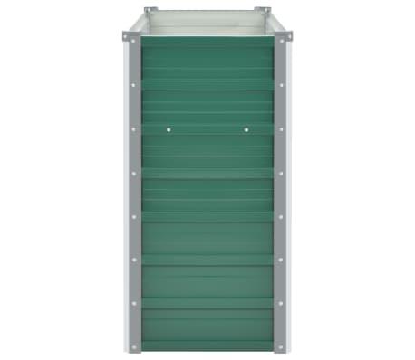 vidaXL dārza puķu kaste, 100x40x77 cm, cinkots tērauds, zaļa[3/7]
