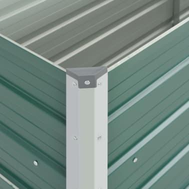 vidaXL dārza puķu kaste, 100x40x77 cm, cinkots tērauds, zaļa[5/7]