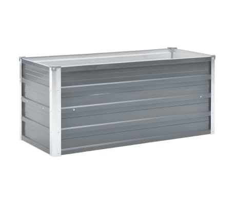 vidaXL Jardinera de jardín de acero galvanizado 100x40x45 cm gris[1/7]