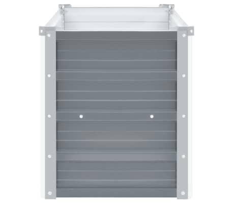 vidaXL Jardinera de jardín de acero galvanizado 100x40x45 cm gris[3/7]