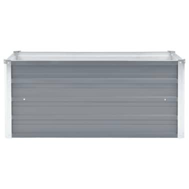 vidaXL Jardinera de jardín de acero galvanizado 100x40x45 cm gris[2/7]