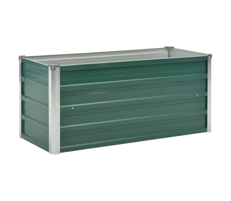 vidaXL Garden Raised Bed Galvanised Steel 100x40x45 cm Green