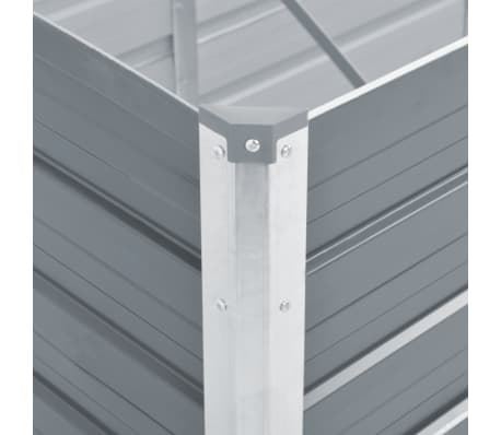 vidaXL Garden Planter Galvanised Steel 129x129x77 cm Grey[4/6]