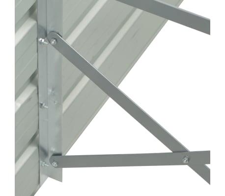vidaXL dārza puķu kaste, 129x129x77 cm, cinkots tērauds, zaļa[4/6]