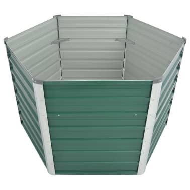 vidaXL dārza puķu kaste, 129x129x77 cm, cinkots tērauds, zaļa[3/6]
