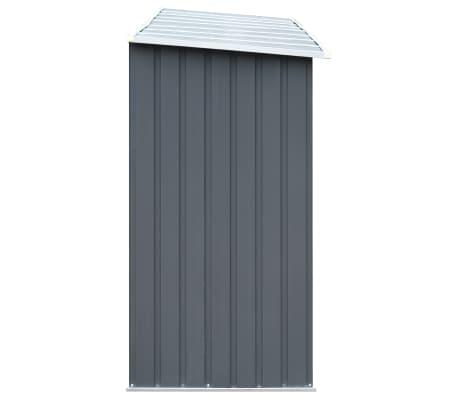 "vidaXL Garden Log Storage Shed Galvanized Steel 130""x33""x60"" Gray[4/6]"