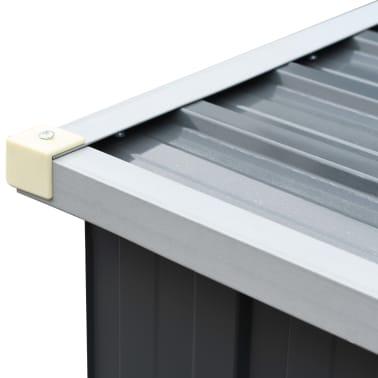 "vidaXL Garden Log Storage Shed Galvanized Steel 130""x33""x60"" Gray[5/6]"