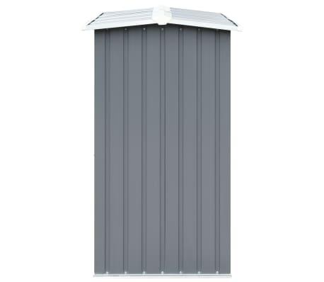 "vidaXL Garden Log Storage Shed Galvanized Steel 130""x36.2""x60.2"" Gray[4/6]"