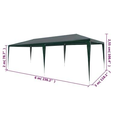 vidaXL zöld PE partisátor 3 x 6 m[6/6]