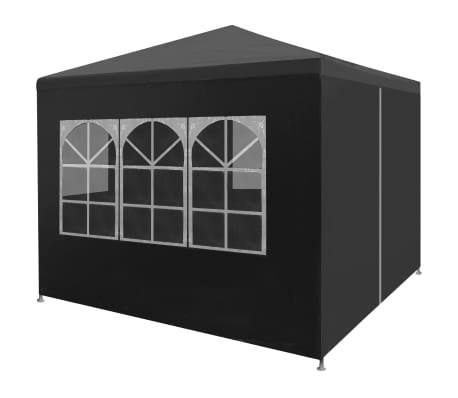 "vidaXL Party Tent 9'10""x9'10"" Anthracite"