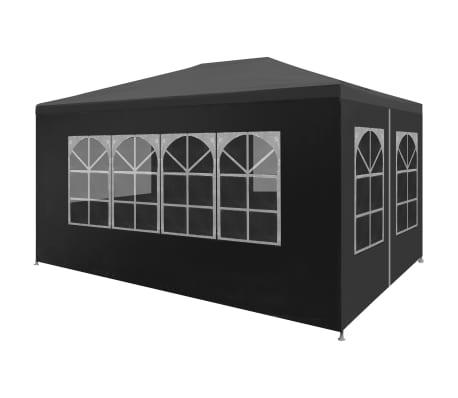 vidaXL Tente de réception 3 x 4 m Anthracite
