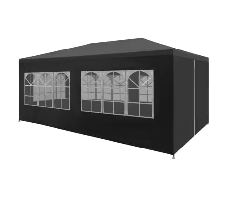 "vidaXL Party Tent 9'10""x19'8"" Anthracite"