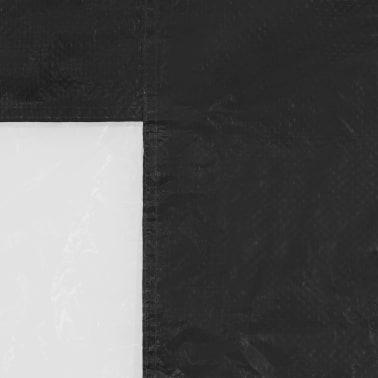 vidaXL Partyzelt-Seitenwände 2 Stück mit Fenster PE Anthrazit[3/3]