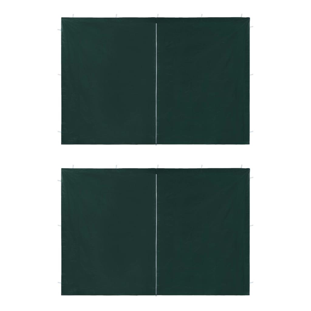Boční stěna k party stanu 2 ks se zipem PE zelená