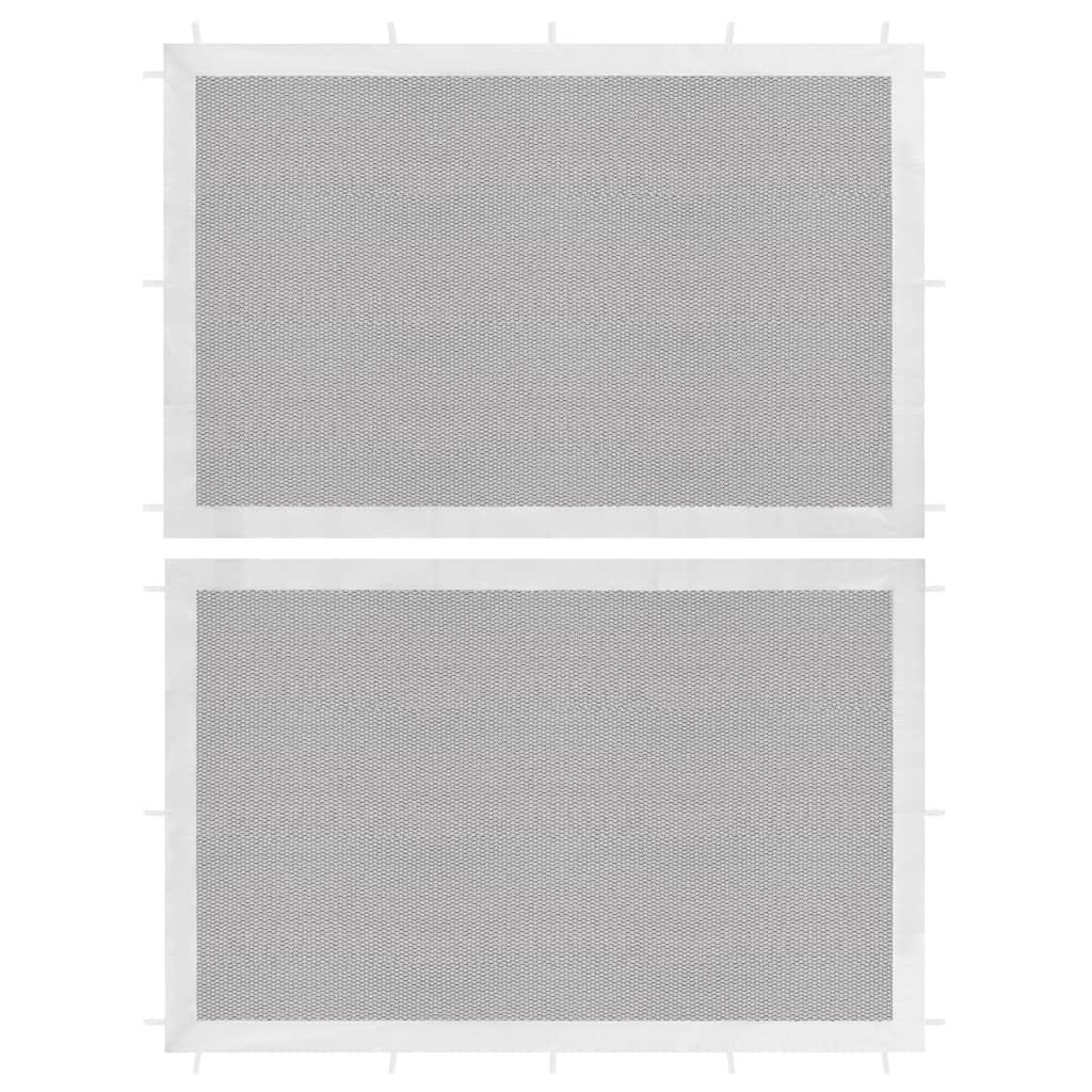 Boční stěna k party stanu 2 ks síťovaná bílá