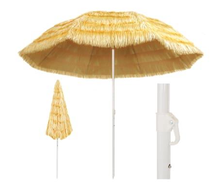 vidaXL Umbrelă de plajă, natural, 300 cm, stil hawaiian