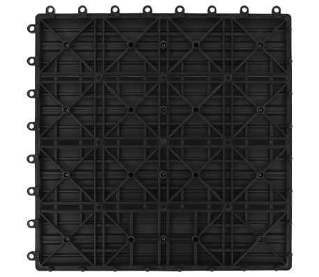 vidaXL 11 бр декинг плочки, WPC, 30x30 см, 1 кв.м., черни[6/6]