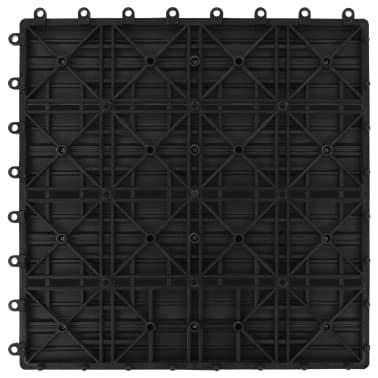 vidaXL Terrassebord 11 stk WPC 30x30 cm 1 kvm svart[6/6]