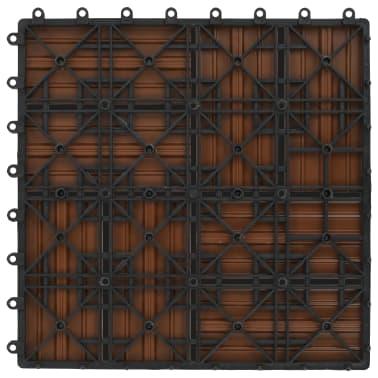 vidaXL Lattialaatat 11 kpl WPC 30x30 cm 1 m² ruskea[6/6]