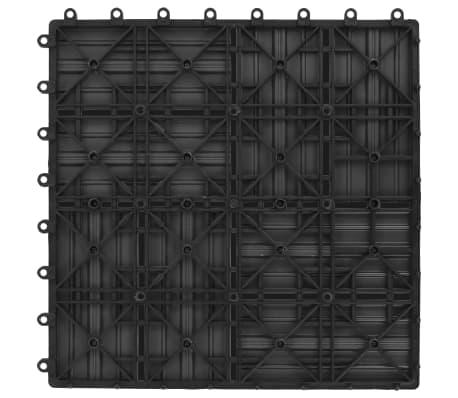 vidaXL Grindų plytelės, 11vnt., pilkos spalvos, 30x30cm, 1m², WPC[6/6]