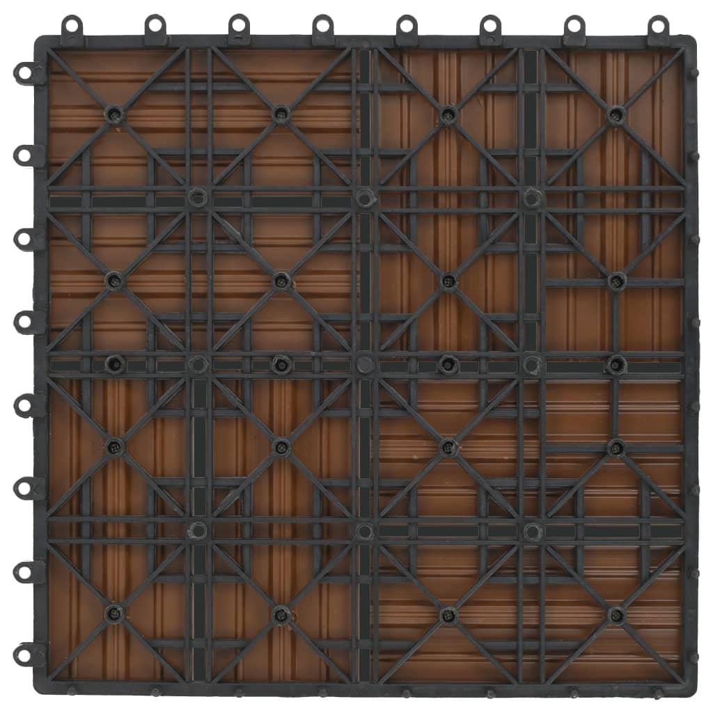 vidaXL Terrastegels 30x30 cm 1 m² HKC teakkleur 11 st