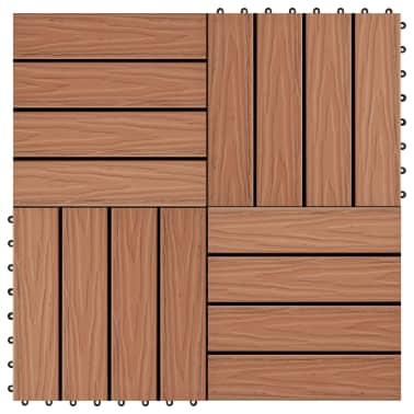 vidaXL terases flīzes, 11 gab., WPC, 30x30 cm, 1 m2, gaiši brūnas[1/6]