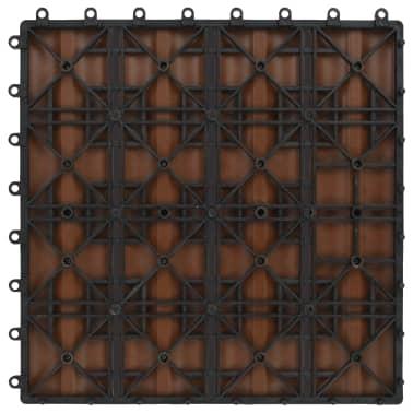 vidaXL terases flīzes, 11 gab., WPC, 30x30 cm, 1 m2, gaiši brūnas[6/6]
