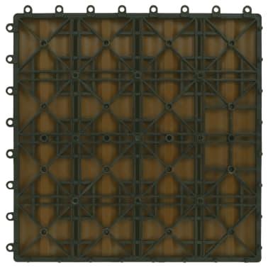 vidaXL Grindų plyt., 11vnt., gil. įsp., WPC, 30x30cm, 1m², tikm. sp.[6/6]