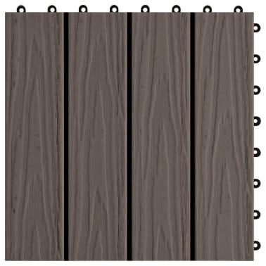 vidaXL Baldosas porche relieve profundo WPC 1 m² marrón oscuro 11 uds[5/6]