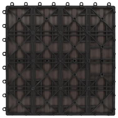 vidaXL Baldosas porche relieve profundo WPC 1 m² marrón oscuro 11 uds[6/6]