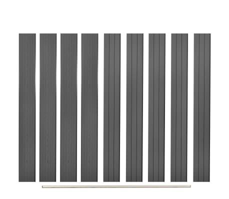 vidaXL Vervangende schuttingplanken 9 st 170 cm HKC grijs