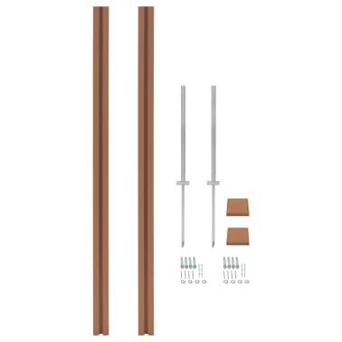 vidaXL Poteaux de clôture 2 pcs WPC 185 cm[1/17]