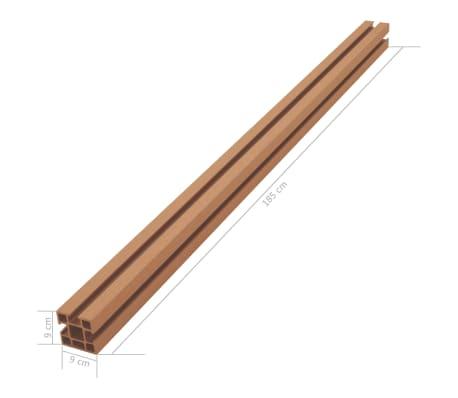 vidaXL Poteaux de clôture 2 pcs WPC 185 cm[15/17]