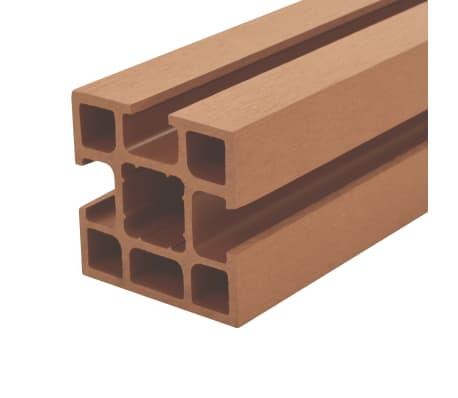vidaXL Poteaux de clôture 2 pcs WPC 185 cm[4/17]
