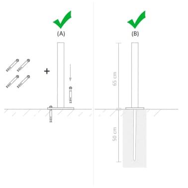 vidaXL Poteaux de clôture 2 pcs WPC 185 cm[14/17]