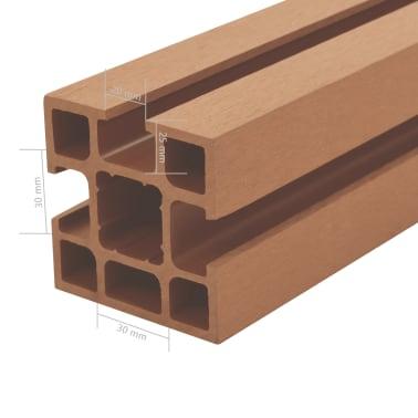 vidaXL Poteaux de clôture 2 pcs WPC 185 cm[16/17]