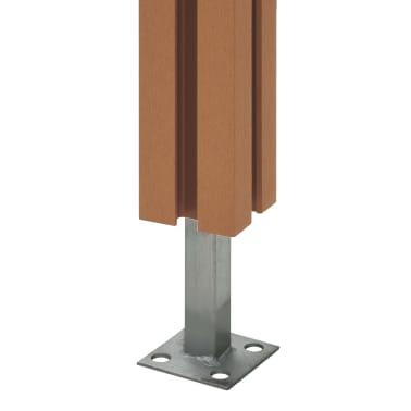 vidaXL Poteaux de clôture 2 pcs WPC 185 cm[6/17]