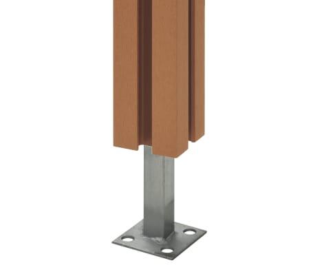 vidaXL rezerves žoga stabi, 3 gab., brūns WPC, 185 cm[6/17]