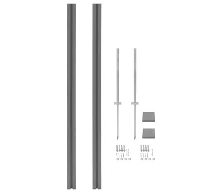vidaXL Fence Posts 2 pcs WPC 185 cm[1/17]