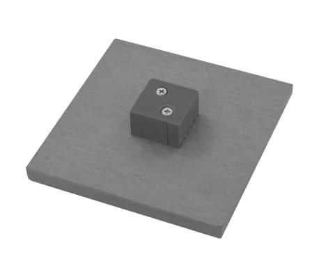 vidaXL rezerves žoga stabi, 3 gab., pelēks WPC, 185 cm[11/17]