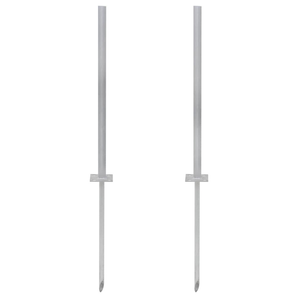 vidaXL Suporturi de înlocuire din oțel, 2 buc., argintiu, 115 cm poza vidaxl.ro