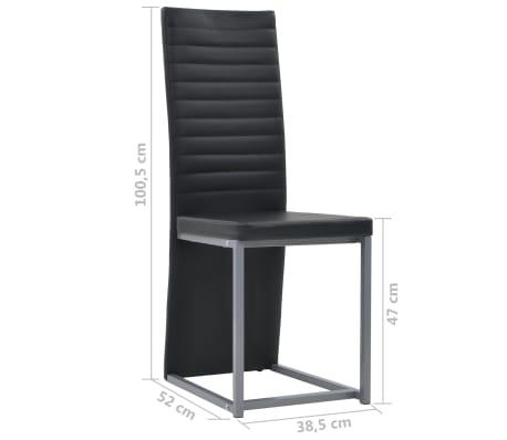 vidaXL Valg. baldų komp., 5d., juod. sp., dirbt. oda, plien. ir stikl.[7/8]
