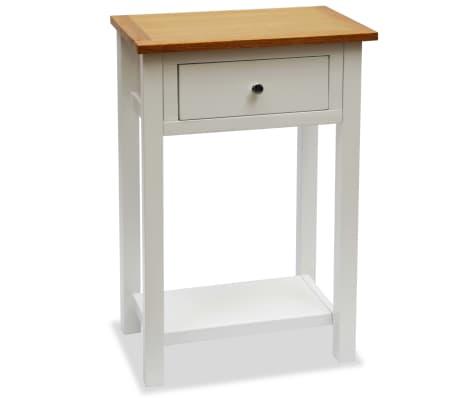 vidaXL Odkladací stolík 50x32x75 cm, dubový masív