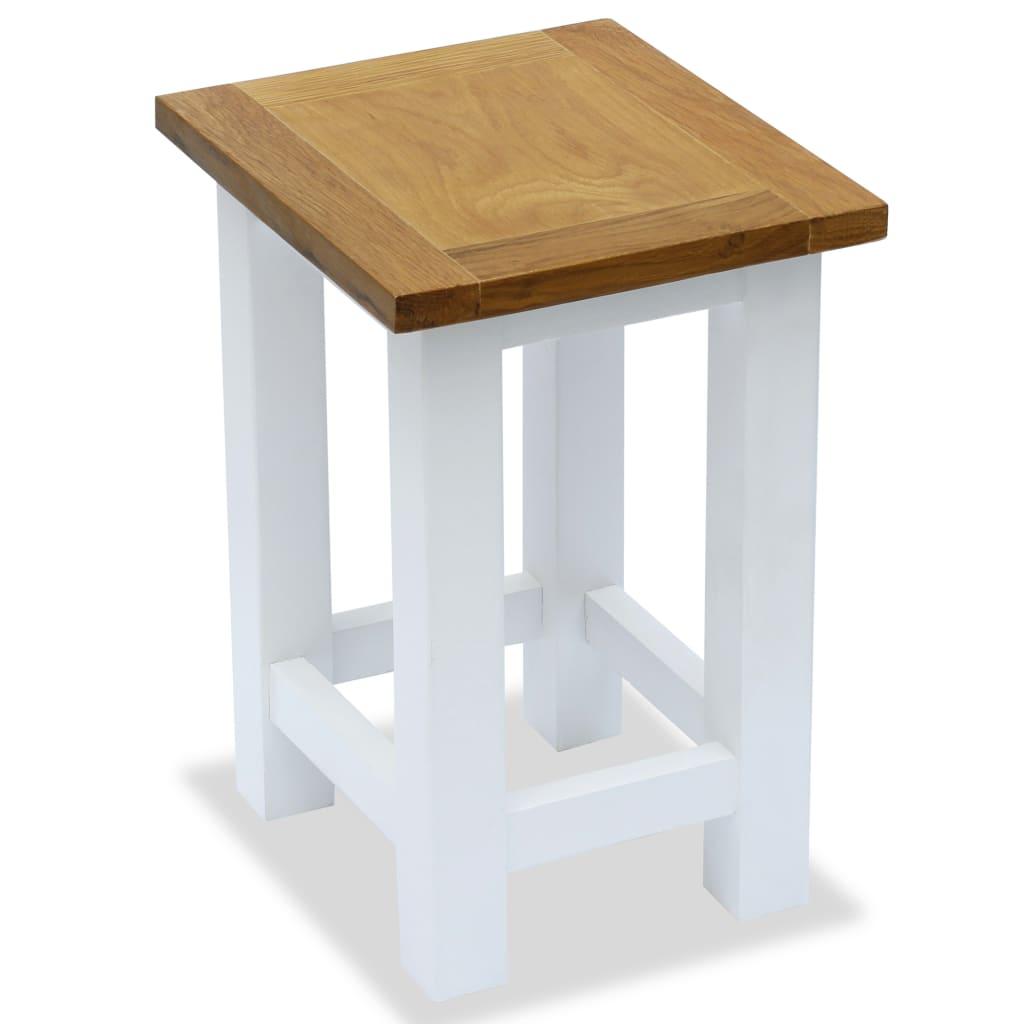 vidaXL Odkládací stolek 27 x 24 x 37 cm masivní dubové dřevo