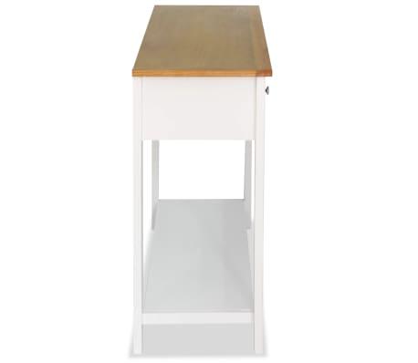 vidaXL Konsolinis staliukas, 118x35x77cm, ąžuolo medienos masyv.[4/6]