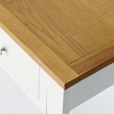vidaXL Konsolinis staliukas, 118x35x77cm, ąžuolo medienos masyv.[5/6]