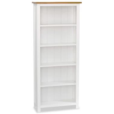 "vidaXL 5-Tier Bookcase 23.6""x8.9""x55.1"" Solid Oak Wood[1/5]"